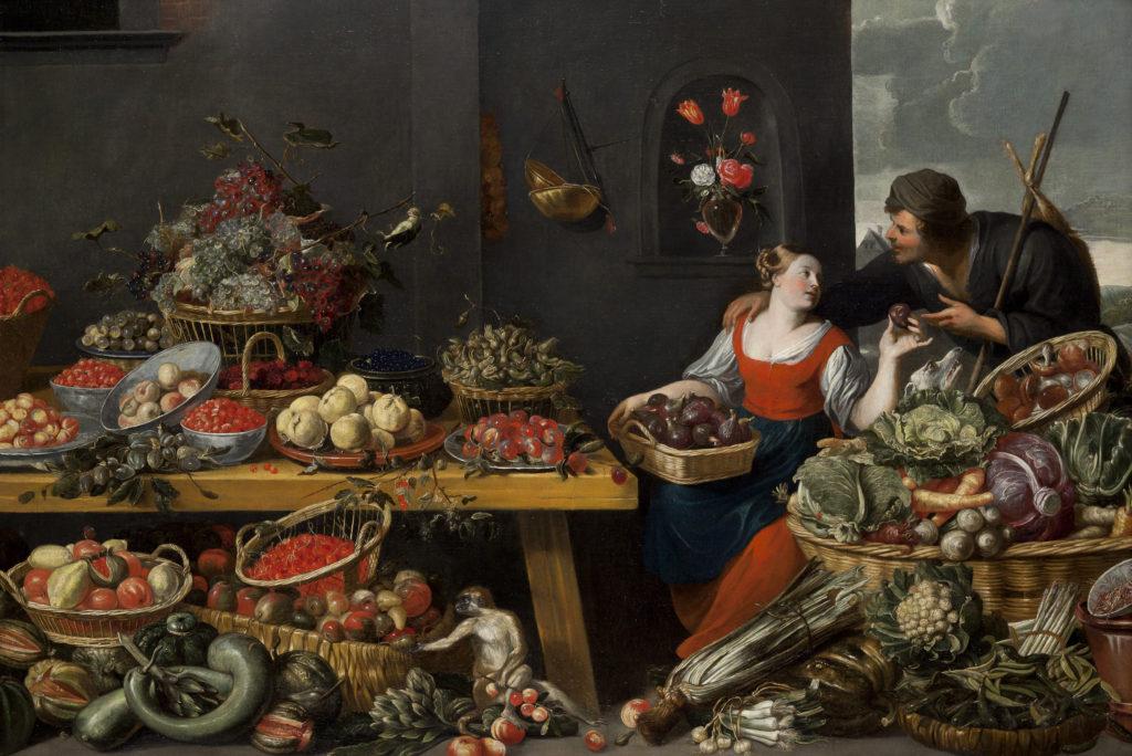 2_Trh s jídlem první poloviny 17století_autor Baltazar Gomez Figueira_foto archiv_repro zdarma