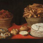 6_Zátiší se sladkostmi a ořechy jak je v 17stol zachytil malíř Tomas Hiepes_repro zdarma