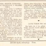 5_Zpráva v dobovém tisku o návštěvě E Beneše v rámci vzdělávání v YMCA_foto YMCA repro zdarma