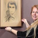 3_Marie Hejtmánková s Portrétem dívky od Toyen_foto Ivan Kahún_repro zdarma