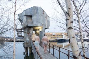 4_foto z výstavy v Paláci YMCA_studio Raumlabor_sauna v bývalém doku v Gothenborgu Švédsko_foto raumlaborberlin_repro zdarma