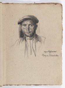 8_Skicák kreseb - jedna ze studií portrétu_Jan Václav Mrkvička_foto Arthouse Hejtmánek_repro zdarma