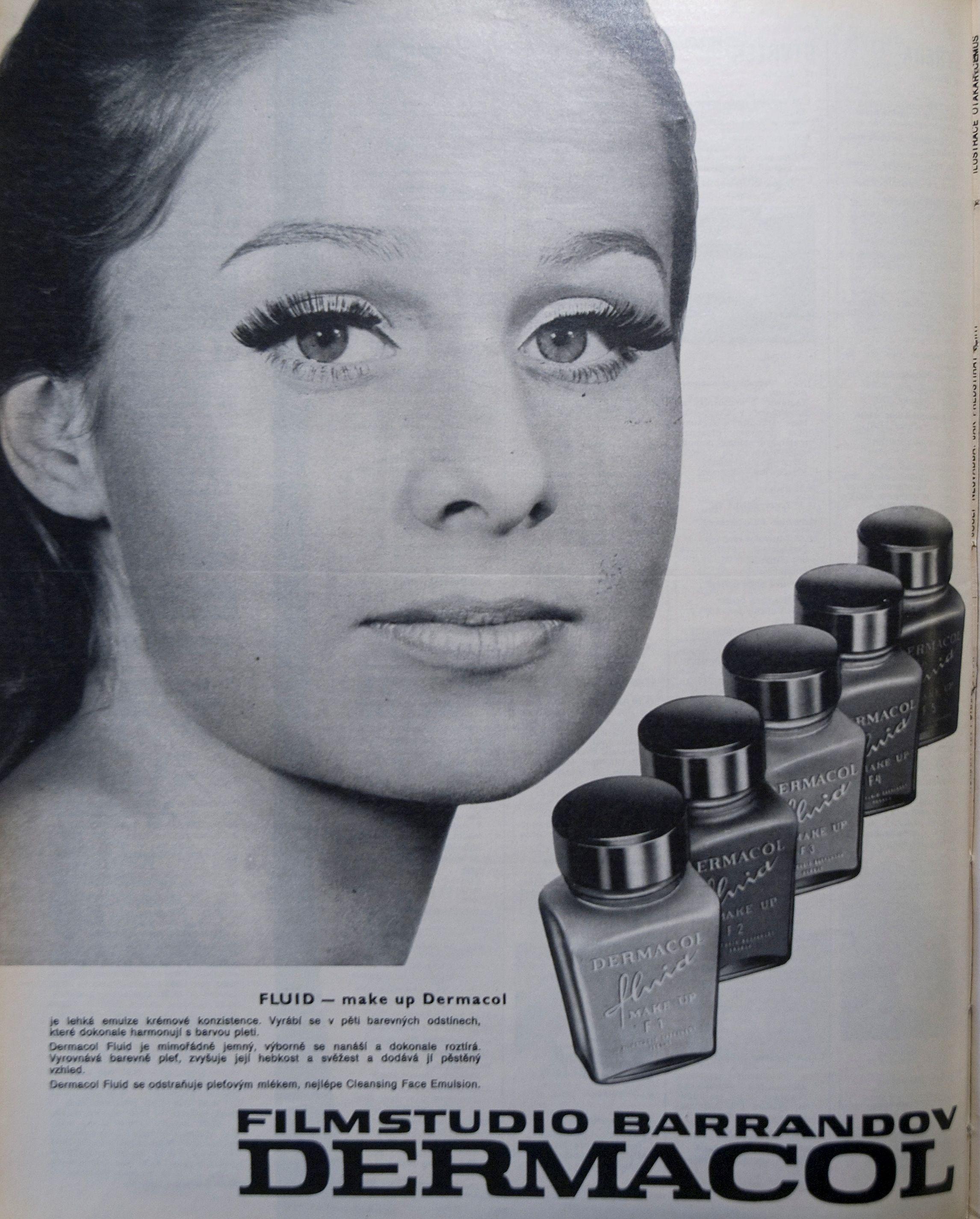 4_Reklama z roku 1972 na fluidní  make-up značky Dermacol_tehdy se ještě líčidlo vyrábělo v Praze na Barrandově_foto Dermacol_repro zdarma